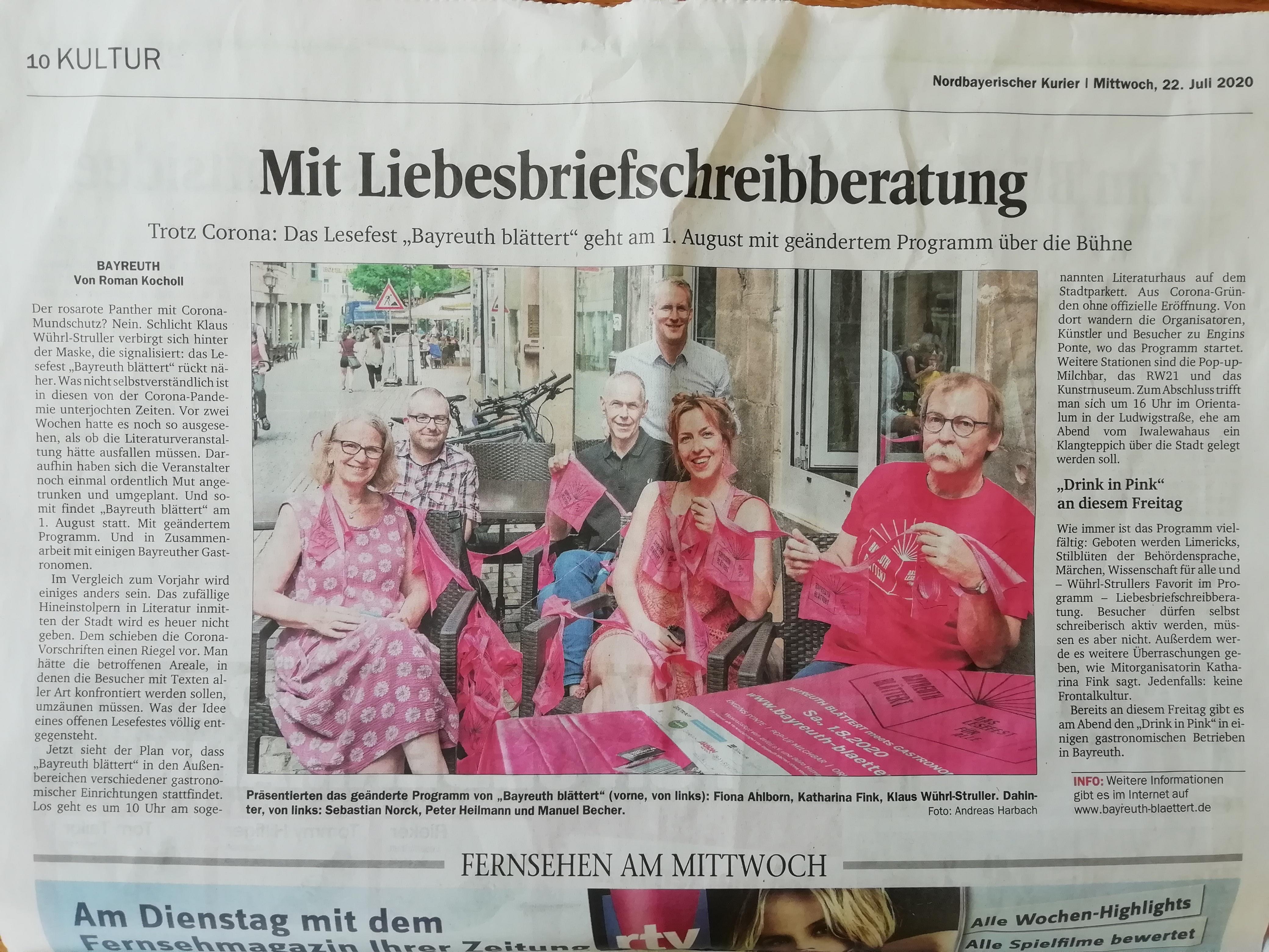 Bayreuth blättert 2020 in der Presse